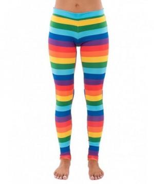 Tipsy Elves Rainbow Striped Leggings