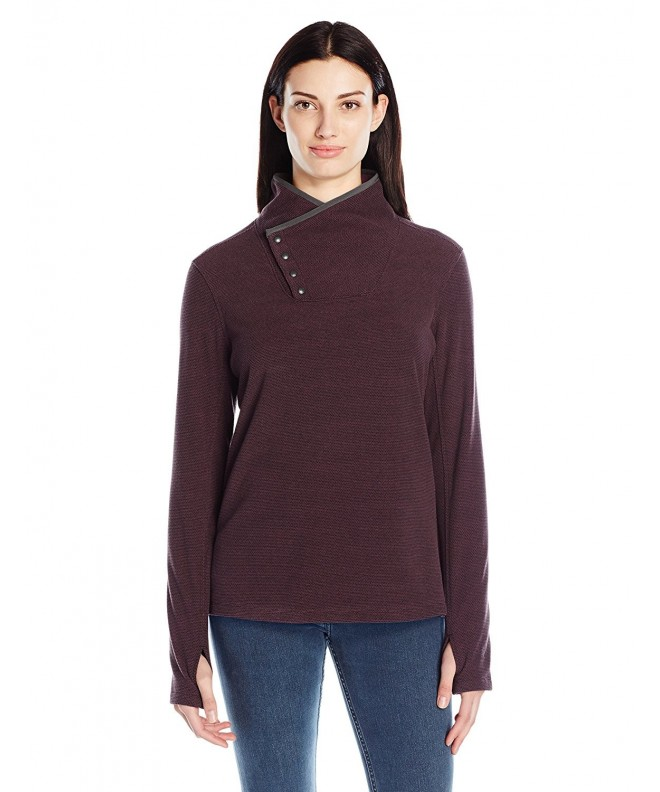 White Sierra Blacktail snap Neck Pullover