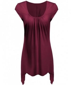 Beyove Womens Sleeves Handkerchief Hemline