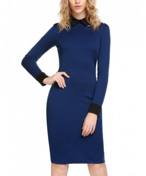 Zeagoo Womens Stand up Collar Bodycon