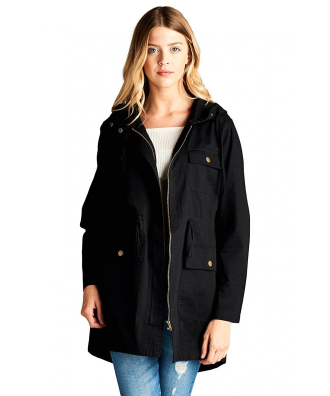Vialumi Womens Hooded Utility Jacket