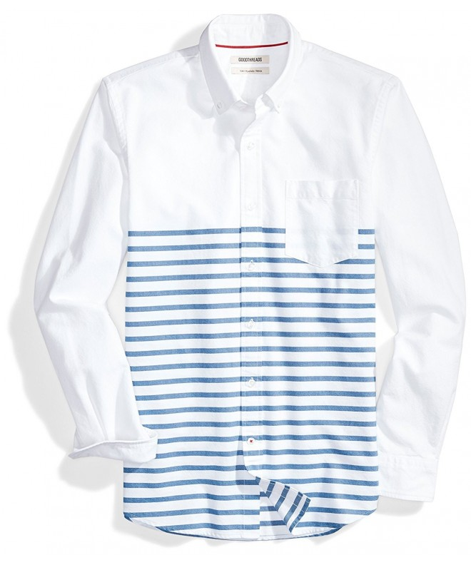 Goodthreads Slim Fit Long Sleeve Placed Stripe Stripes