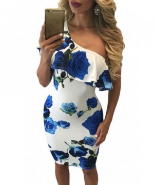 Astylish Womens Shoulder Cocktail Bodycon