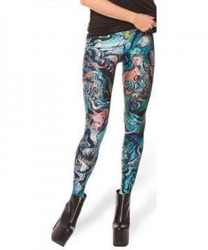 Thenice Womens Stretchy Leggings Mermaid