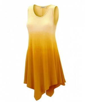 WT1053 Womens Round Sleeveless YELLOW