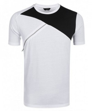 COOFANDY Summer Casual T Shirts Contrast