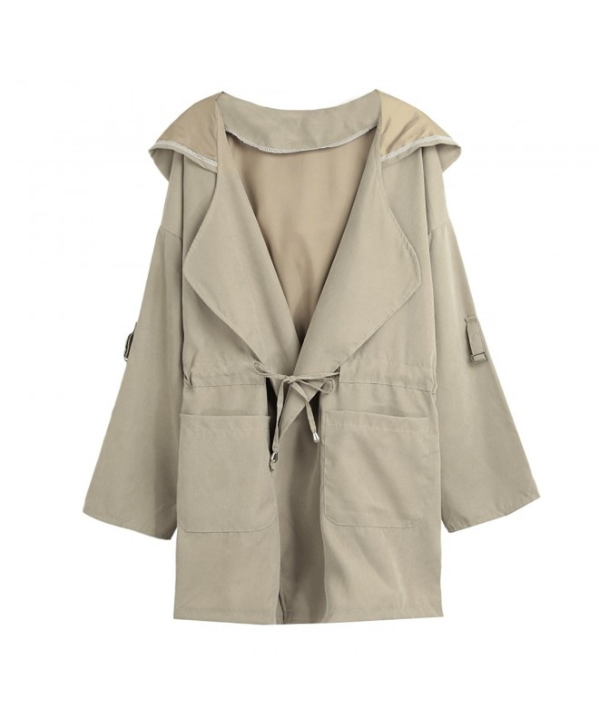 Anself Casual Drawstring Anoraks Military