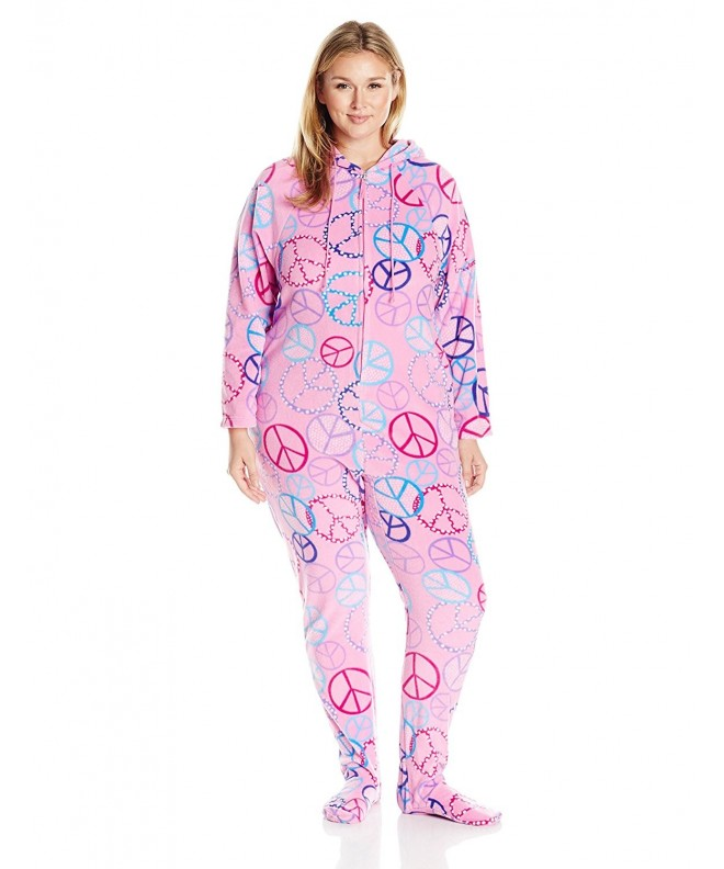 Casual Moments Womens Hooded Pajama
