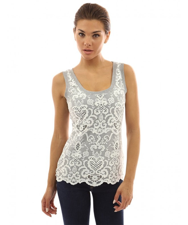 PattyBoutik Womens Crochet Overlay White