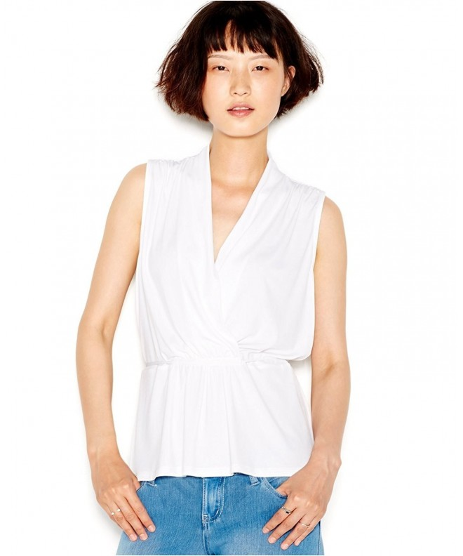 Bar III Womens Sleeveless Blouse