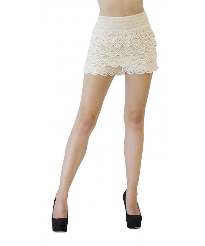 Monarchy Crochet Layered Shorts Waves
