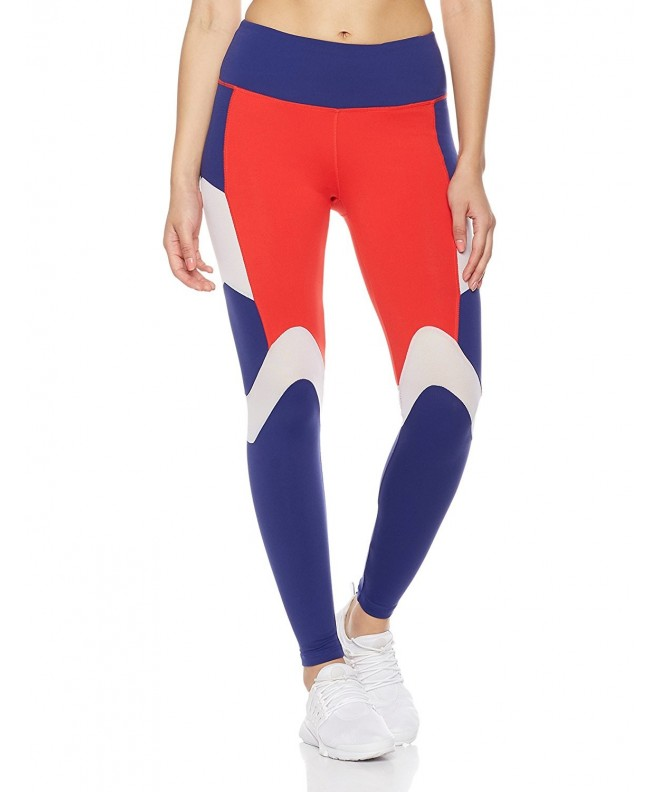 7Goals Womens Blocked Legging Scarlet