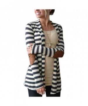 Aifer Womens Striped Sweater Cardigan