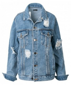 ililily Vintage Distressed Boyfriend US Medium
