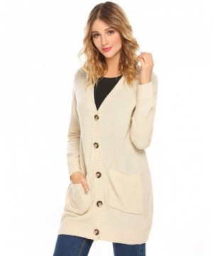 HOTOUCH Sleeves Boyfriend Cardigan Sweaters