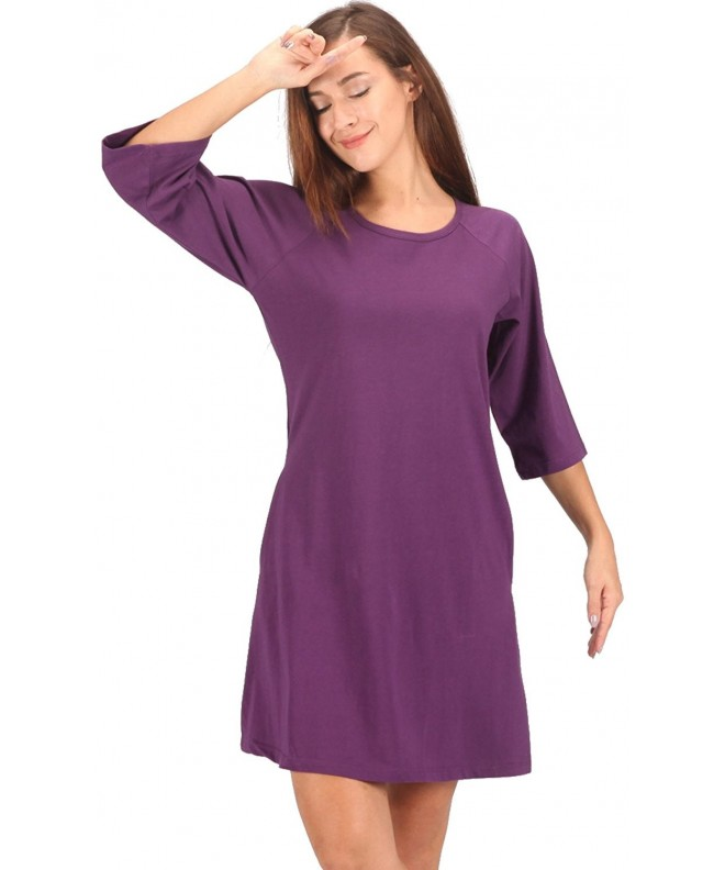 WEWINK CUKOO Nightgown Striped Sleepwear