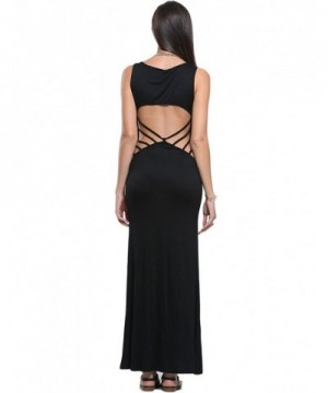 Persun Womens Black Party Dress