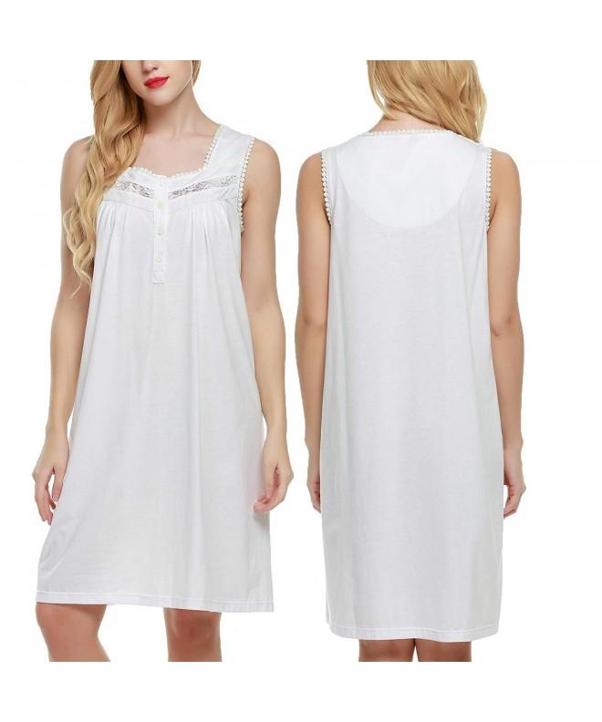 Legros Cotton Chemise Nightgown Sleepwear
