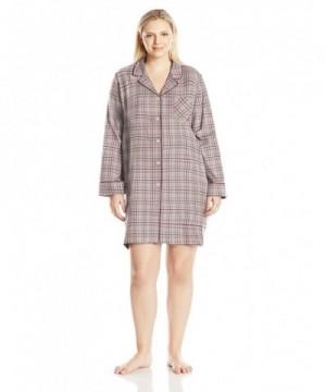 Nautica Womens Flannel Sleepshirt Plaid