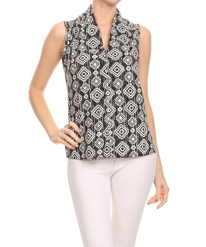 ReneeC Womens Sleeveless Office Blouse