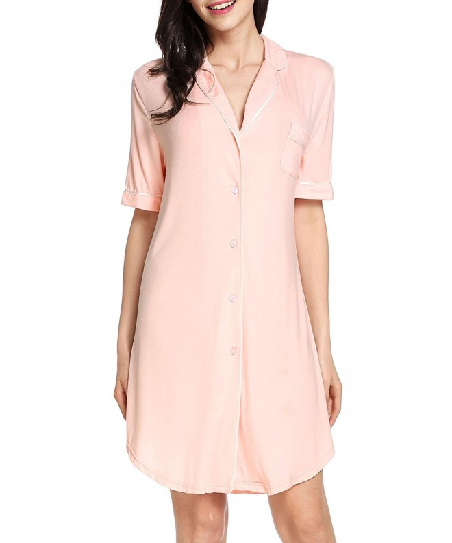 Goldenfox Womens Sleeve Boyfriend Sleepshirt