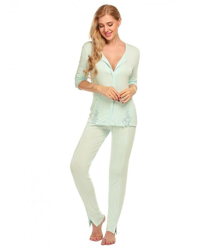 Hufcor Sleeve Patchwork Sleepwear Pajamas