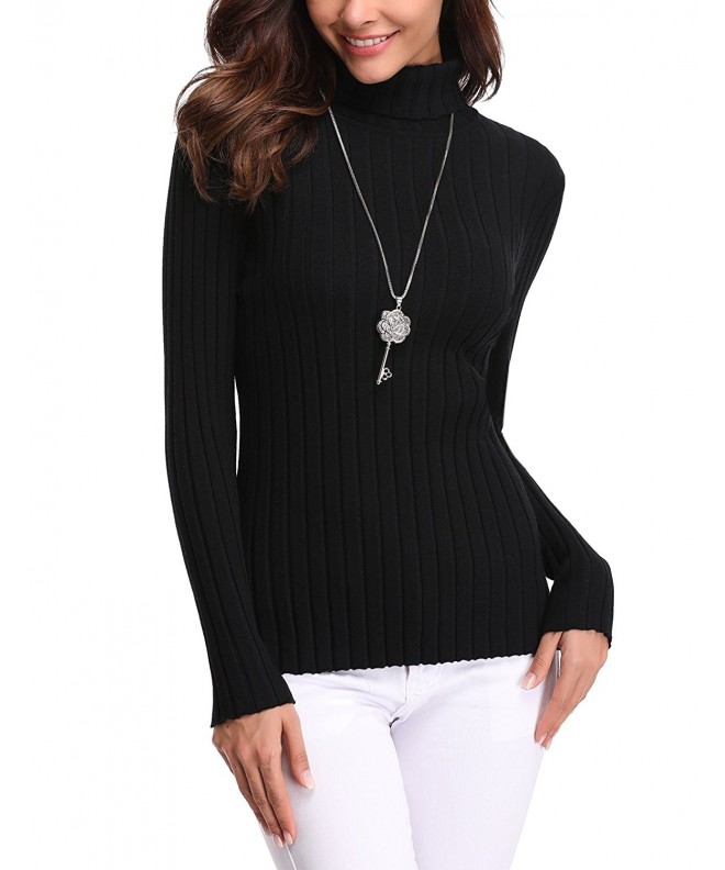 Abollria Lightweight Turtleneck Sweater Pullover