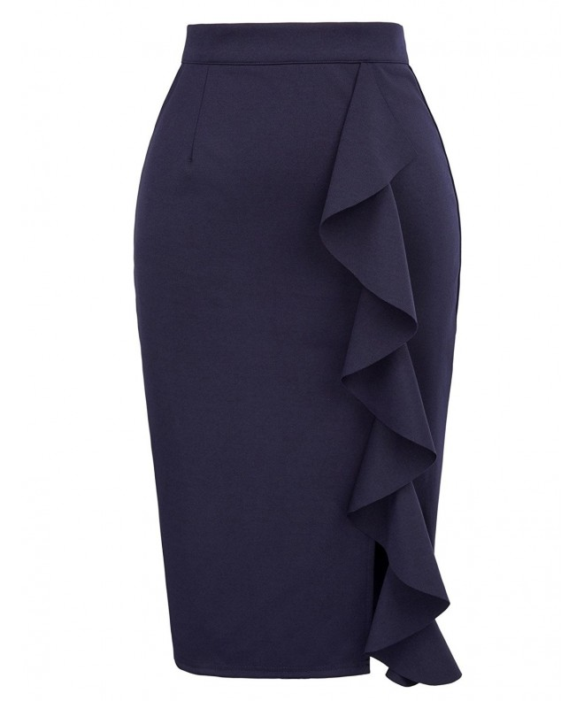 Womens Solid Wear Bodycon Skirts