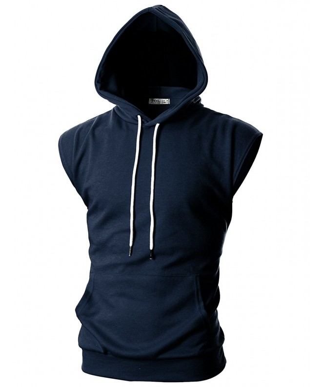 Ohoo Sleeveless Lightweight Hoodie DCF014 NAVY XL