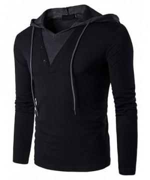 Hengta Casual Sleeve T Shirt Hooded