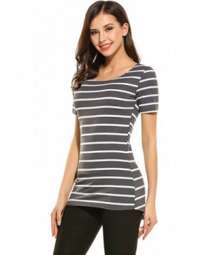 Womens Summer Casual Sleeve Striped