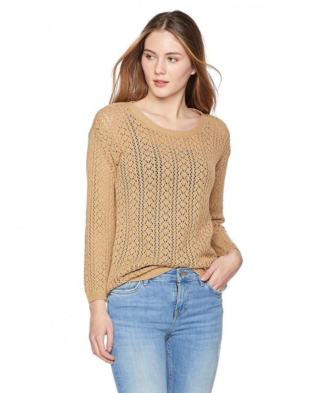 True Angel Womens Pointelle Pullover