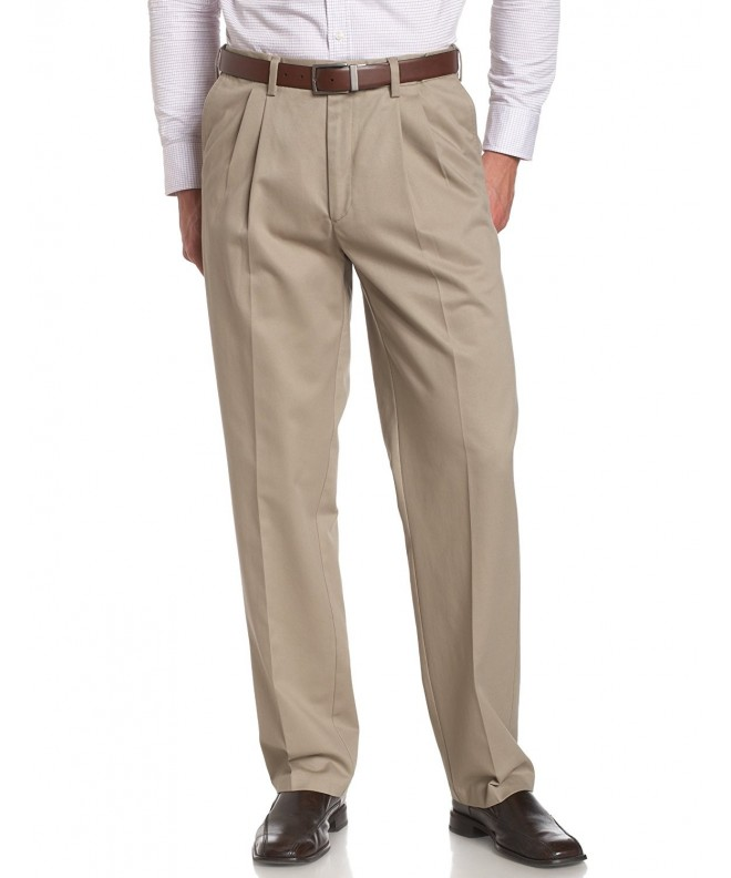 Savane Wrinkle Pleated Twill Khaki