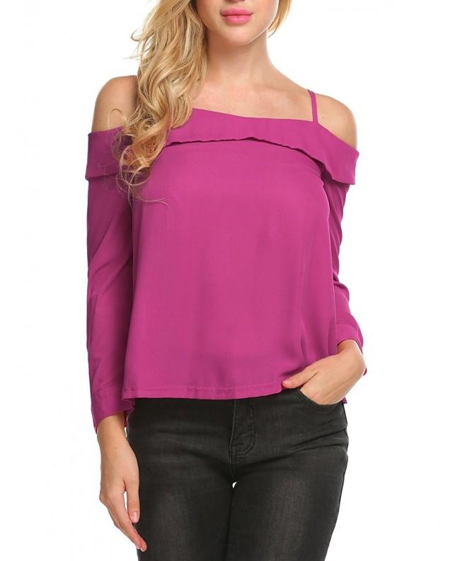 Soteer Womens Shirts Shoulder Blouse