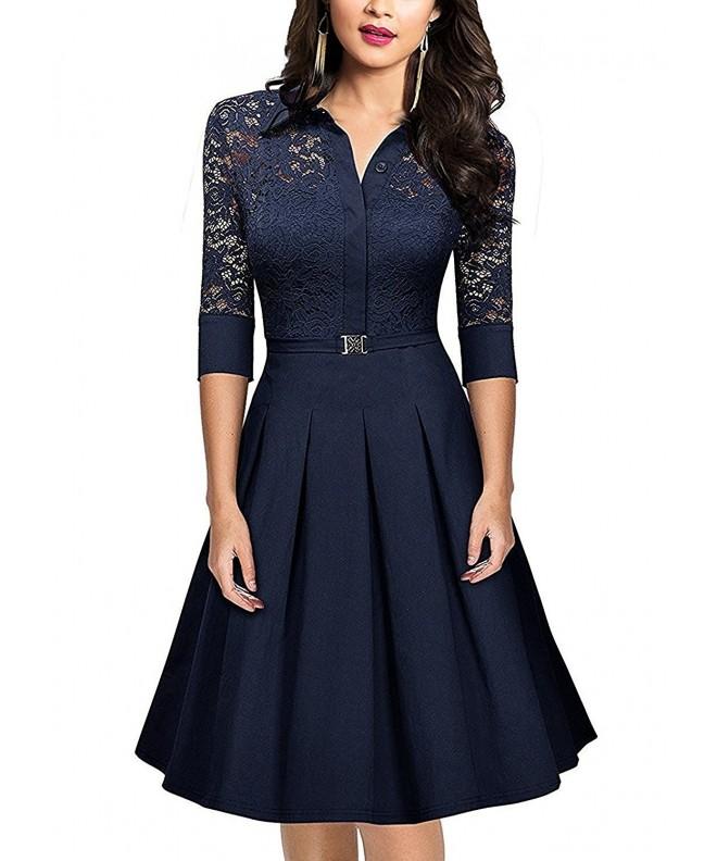 SUJAN Womens Dresses Hepburn Rockabilly