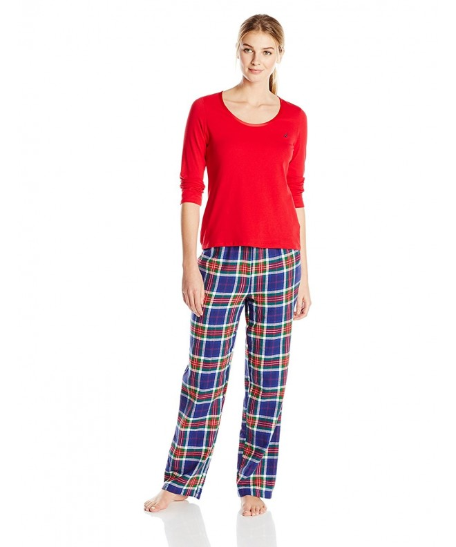Nautica Sleepwear Womens Flannel X Large