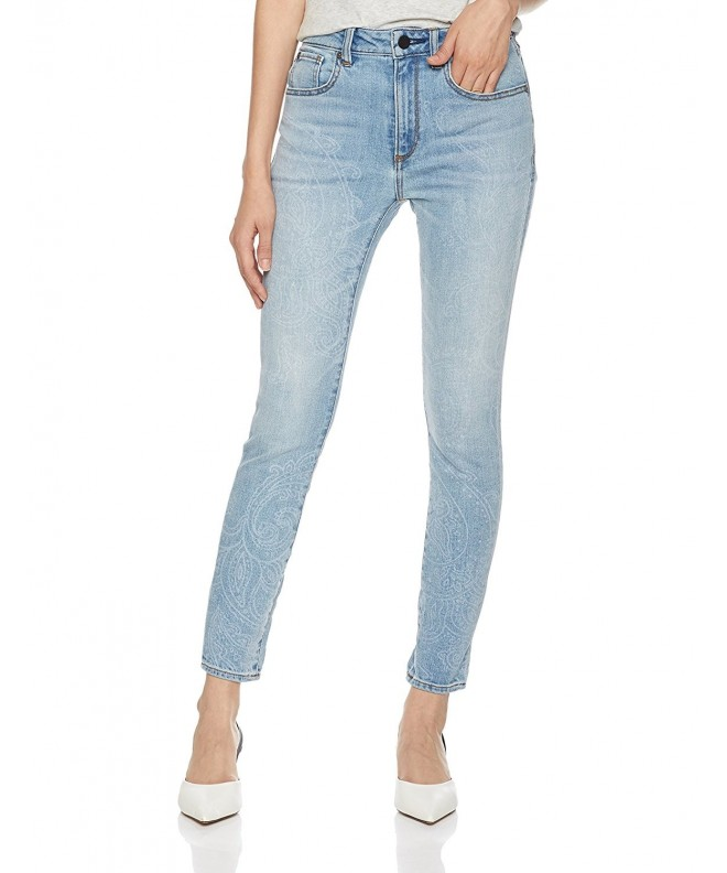 HALE Womens Skinny Cropped Ginger