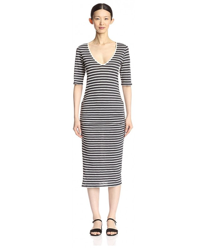 byTiMo Womens Stripe Neck Dress