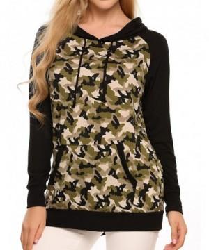 Soteer Womens Sleeve Camouflage Sweatshirt