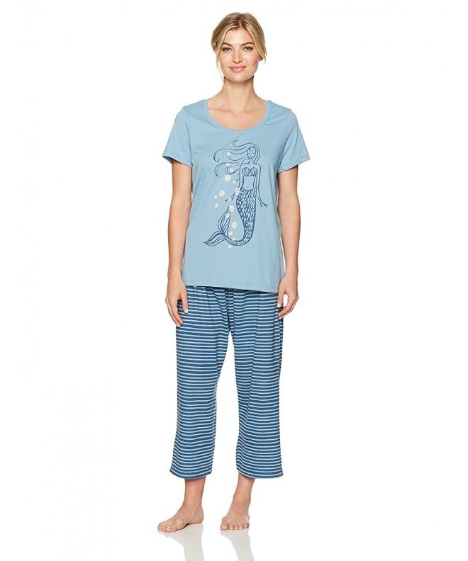 HUE Womens Stripes Sleeve Pajama