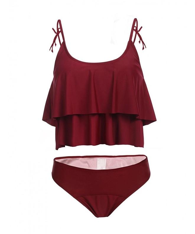 Legros Womens Ruffles Swimsuit Bathing