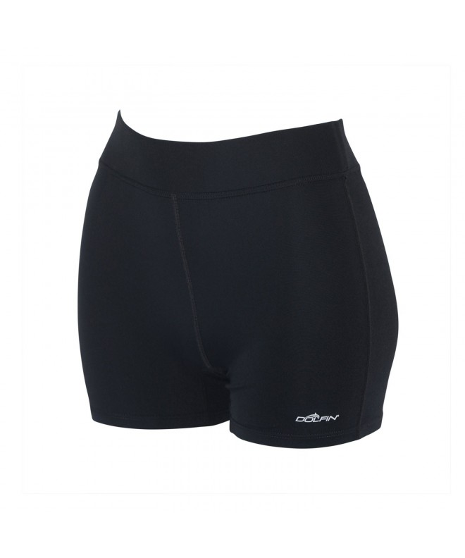 DOLFIN WOMENS SOLID FITTED SHORTS