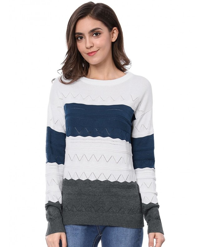 Allegra Womens Shoulder Stitch Sweater
