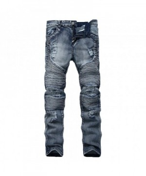 Pishon Destroyed Stretch Tapered Distressed