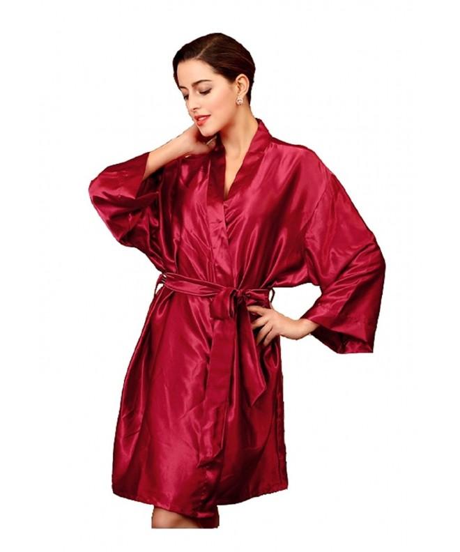 Sipaya Kimono Oblique V Neck Burgundy