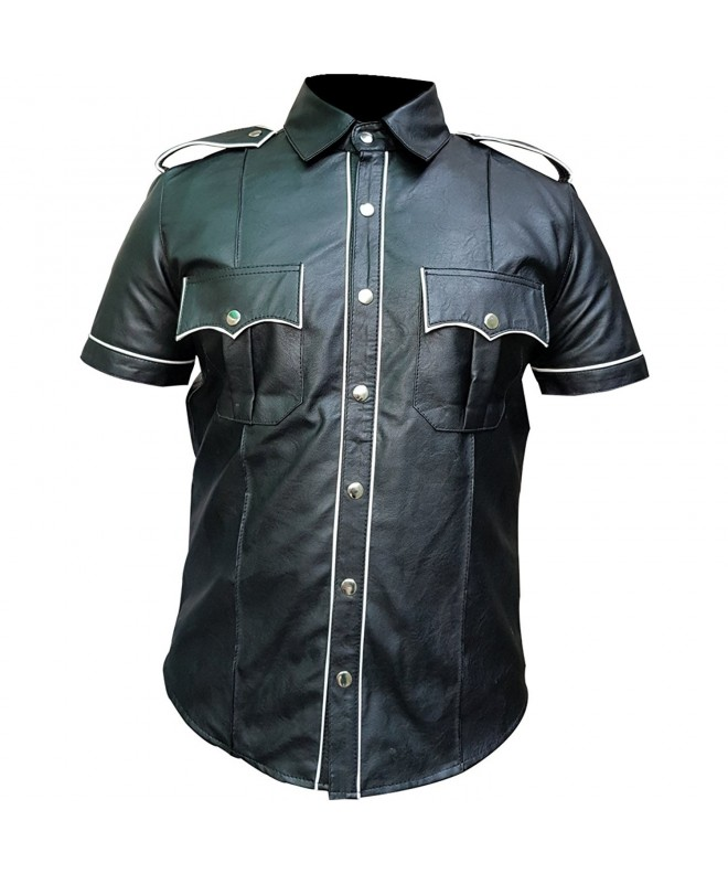 Olly Ally Leather Police T Shirt