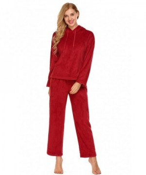 Ekouaer Flannel Patterned Homewear Sleepwear