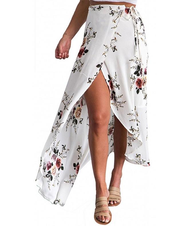 LOBiI78lu Womens Chiffon Asymmetrical Floral