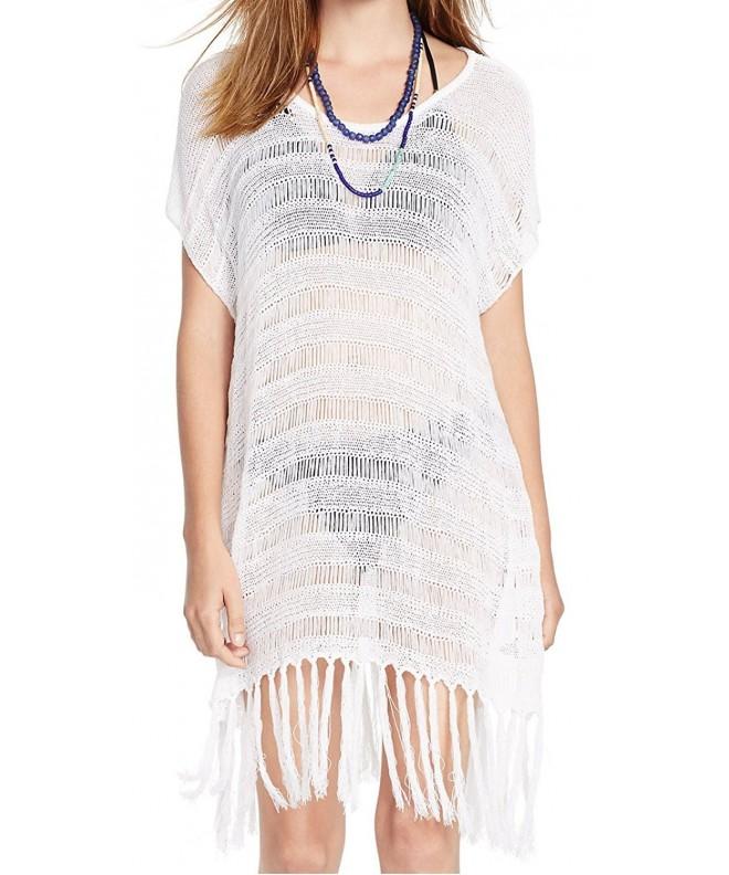 DQdq Womens Beach Knitted Tassels