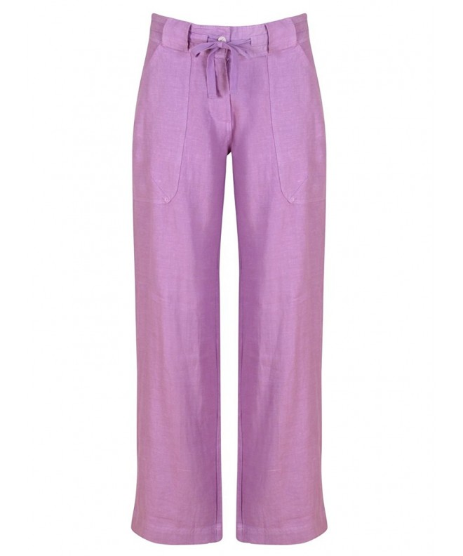 Linen Drawstring Pants Lavender